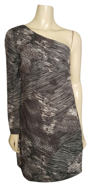 Preload https://img-static.tradesy.com/item/14409613/w118-by-walter-baker-dark-gray-almost-looks-black-gray-and-white-one-shoulder-small-mini-night-out-d-0-1-650-650.jpg