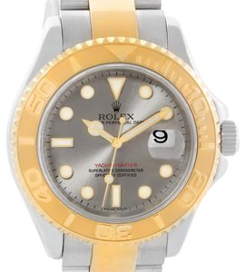 Rolex Rolex Yachtmaster Steel 18K Yellow Gold Gray Dial Mens Watch 16623