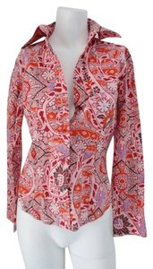 Etro Button Down Blouse Button Down Shirt Pinks & Reds