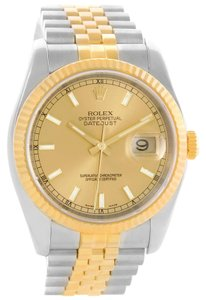 Rolex Rolex Datejust Steel 18K Yellow Gold Jubilee Bracelet Watch 116233