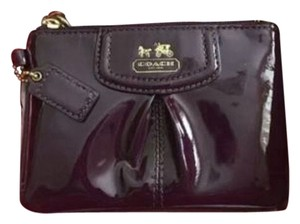Coach NWT - COACH Liquid Gloss Burgundy Wristlet/Wallet, NEW CONDITION, IN COACH BOX!!