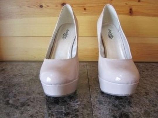 Charlotte Russe Platform Patent Heal Glossy Nude Pumps