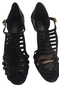 Michael Kors Strappy High Heels Black patent leather Sandals