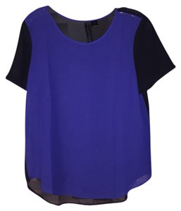 Petticoat Alley Top Blue Black