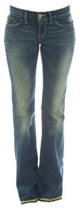Loomstate Low Rise Mid Rise Boot Cut Jeans-Dark Rinse