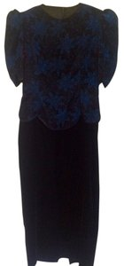 Scott McClintock Vintage Velvet Floor Length Dress