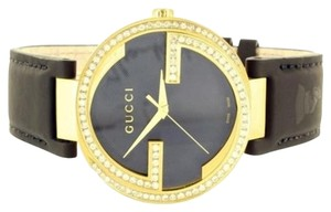Gucci Gucci Watch Ya133208 2.2 Ct Diamond Bezel Gg Silicon Band Swiss Stainless Steel