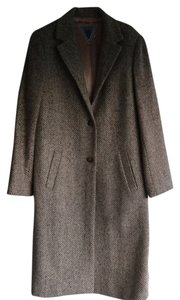 Marvin Richards Winter Silk Lined Herringbone Coat