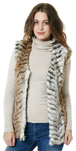 Buffalo David Bitton Faux Fur Animal Print Vest