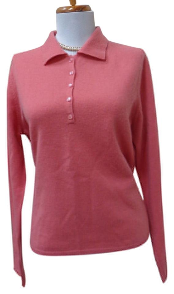 807380a85 Heather Cashmere Long Sleeve Size L Salmon Pink Sweater - Tradesy