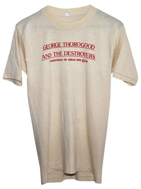 33a059f8305b7 80%OFF 80s Thorogood   The Destroyers Rock Concert Tour Slim Mens Small S  Boyfriend