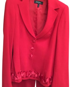Escada Red evening pant suit