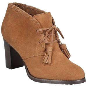 Ralph Lauren Suede Tie Up Ankle Camel/Tan Boots