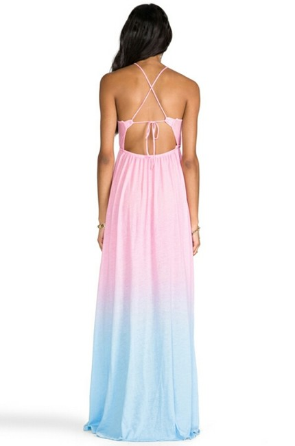 Pink & Blue Maxi Dress by Wildfox Dolls Kill Swimsuit Cover Up Ombre Unif Bloomingdales Karmaloop High Slit Asos Sold Out Size 10