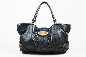 Bill Blass Leather Tote in Black