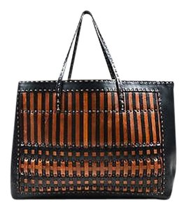 Fendi Selleria Brown Tote in Black