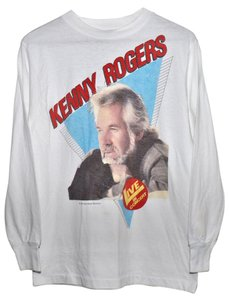 Genuine Vintage from 1985 Concert Shirt Concert 1980s Kenny Rogers T Shirt White