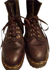 Dr. Martens Dark Brown w Yellow Stitching Boots