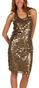 BCBGMAXAZRIA Sequin Sparkles Shiny New Year's Cocktail Club Vegas Hot Dress