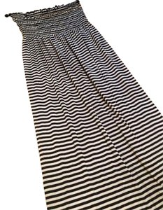 black white stripes Maxi Dress by JJ Authentic Maxi Comfortable