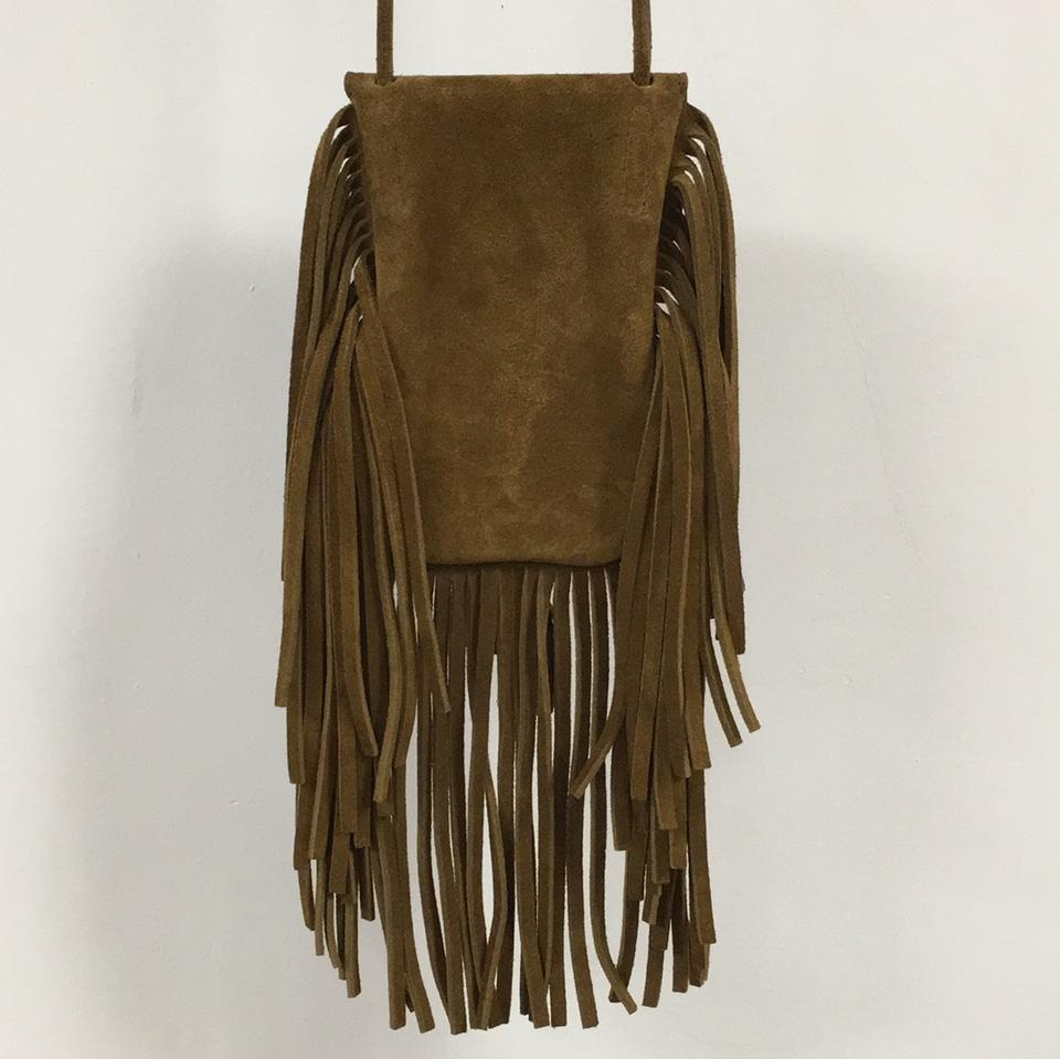 Laurent Cross Suede Saint Anita Brown Fringed Bag Body a6wTwq1