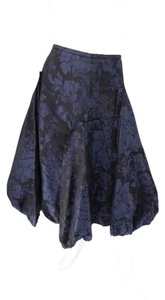 Vera Wang Elegant Evening Size 2 Silk Skirt Blue