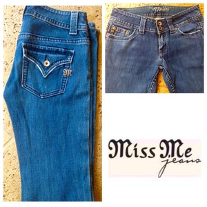 Miss Me Designer Boot Cut Jeans-Distressed