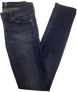 7 For All Mankind Denim Skinny Jeans-Medium Wash