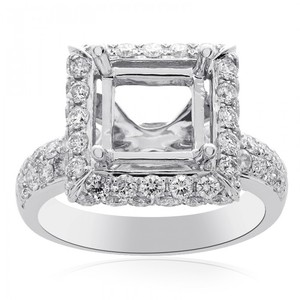 Avital & Co Jewelry 1.19 Carat Diamond Engagement Ring 14k White Gold Mount Setting