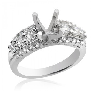 Avital & Co Jewelry 1.15 Carat Round-brilliant Diamond Engagement Ring 18k White Gold Sett