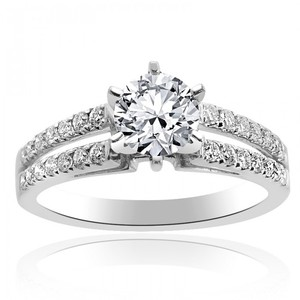Avital & Co Jewelry 1.25 Carat G-vs1 Natural Round Cut Diamond Split Shank Engagement Ring