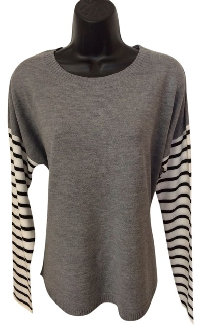 French Connection Top white, grey, black