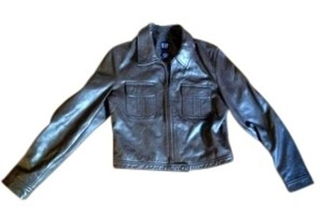 Gap Brown Leather Jacket