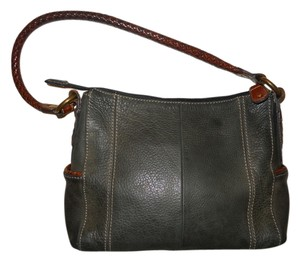 Fossil Leather Braided Shoulder Bag