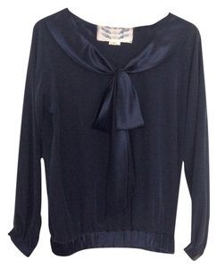 Sweet Robin Top Navy blue
