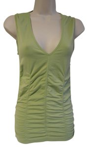 BCBGMAXAZRIA Medium Sleeveless Long V-neck Top lime green