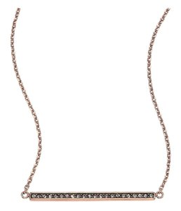 Michael Kors MICHAEL KORS ROSE GOLD PAVE BAR PENDANT NECKLACE