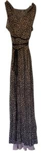 Nude black leopard Maxi Dress by Rebecca Taylor