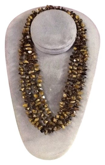 """Other Single strand 80"""" knotted tiger eye necklace, ss"""