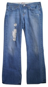 Hint Jeans Flare Leg Jeans-Distressed