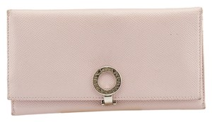 BVLGARI Bvlgari Pink Leather Bi-Fold Wallet (80385)