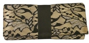 Claire's Claires Satin Lace Black/beige Clutch