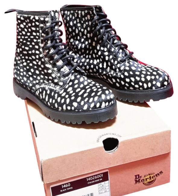 Item - Black with White Polka Dots Topos Hair On Boots/Booties Size US 8 Regular (M, B)
