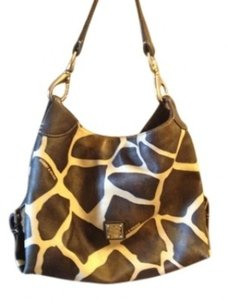 Dooney & Bourke Satchel in Dark Brown Giraffe Print