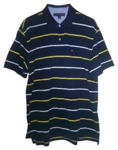 Tommy Hilfiger T Shirt Blue,with yellow in stripe