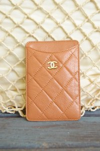 Chanel Chanel Tan Caviar Card Case