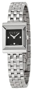 Gucci Black Dial Silver tone Stainless Steel Designer Dress Watch