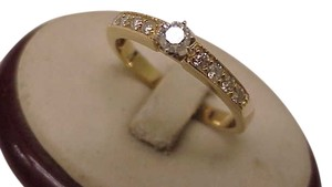 Other 14kt Yellow Gold .70ct Solitaire Old European Cut Diamond Ring