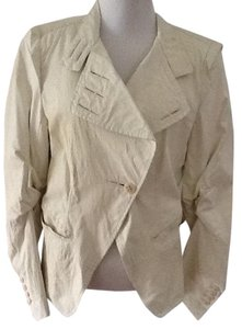 Ann Demeulemeester Leather Touch Of Pastel Green almost beige Leather Jacket