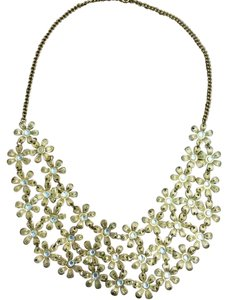 Unknown Gold Flower Statement Necklace